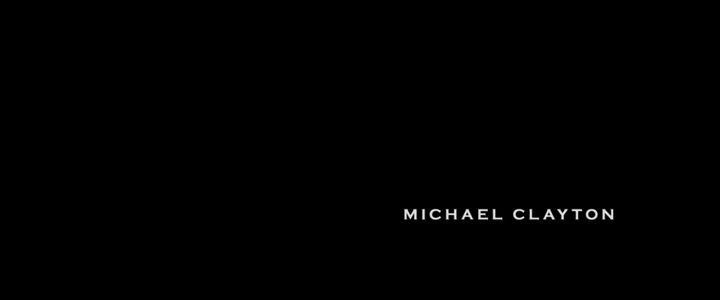 Michael Clayton Title Card
