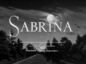 Sabrina 1954 Title Card