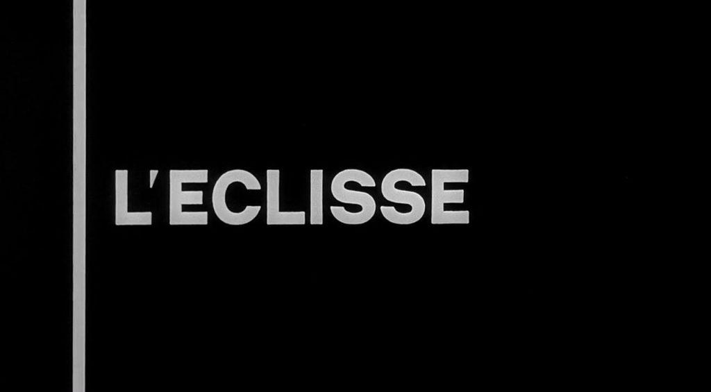 L'Eclisse Title Card