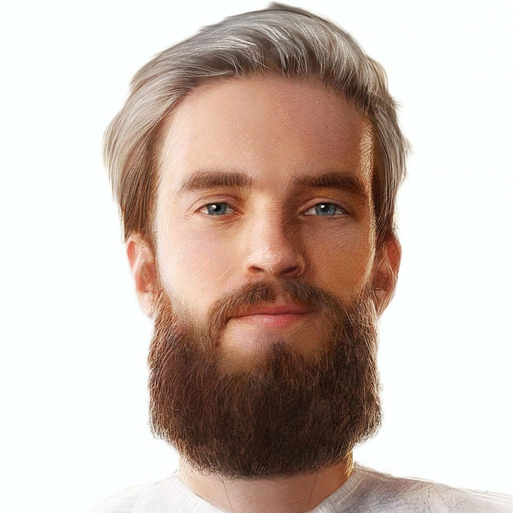 Pewdiepie's 72 books - Felix drawn digitally by the talented Johnson Ting, found here:  https://www.artstation.com/artwork/4rXV2