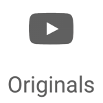 YouTube Originals button on youtube.com before removal