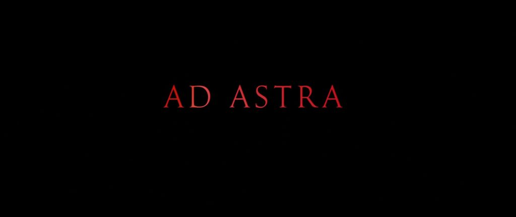 Ad Astra 2019 Movie Title Card