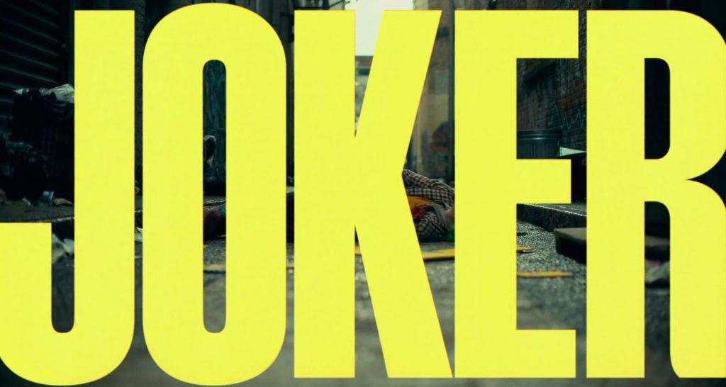 Joker 2019 Movie Title Card